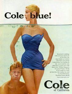 Vintage swim: Jean Patchett for Cole of California swimwear, 1955