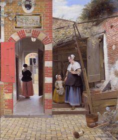 Pieter de Hooch / Courtyard of a house in Delft, 1658