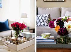 Coffee table styling - Mesa de centro bem decorada? Aposte nas bandejas!