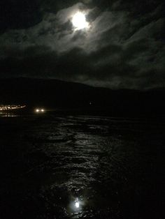 Moon, mirror and ocean