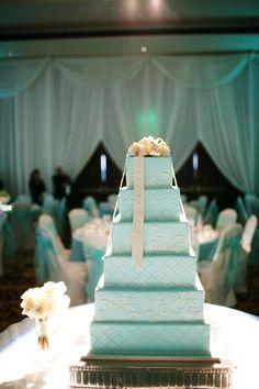 Tiffany blue cake - Wedding look
