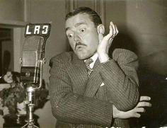 """Pepe Iglesias """"El Zorro"""" en Radio BELGRANO de Buenos Aires. Década del 40."""