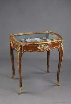 A Fine Louis XV Style Gilt-Bronze Mounted Kingwood Vitrine Table by FRANÇOIS LINKE - Adrian Alan