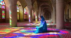 The use of stained glass is common in the interior design of Iranian architecture and also in Churches and Synagogues. But it may seem amazing to you to see it in Mosques.   Nasir-ol-Molk Mosque is one of the few mosques in the world whose impressive interior design with stained glass has turned it into an admirable artwork.