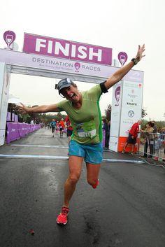 #HBWineHalf finish line happy dance