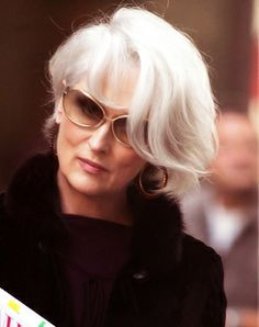 """Meryl and I decided on the white hair, and we..."