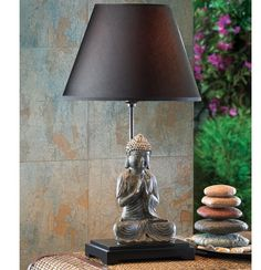 """Buddha 24"""" H Table Lamp with Empire Shade"""