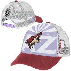 low priced ab046 7a903 Mens Arizona Coyotes Reebok White Hockey Fights Cancer Draft Takedown Adjustable  Hat. Arizona Coyotes, Reebok, Nhl ...