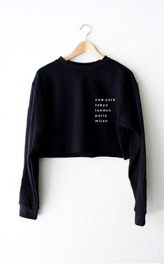 Cities Cropped Sweater