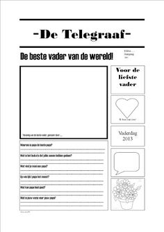 Mama in the newspaper - craft for mother's day school thema school school Diy For Kids, Crafts For Kids, Love You Mum, Beste Mama, Kids Class, Newspaper Crafts, Teacher Education, Fathers Day Crafts, Posters Diy