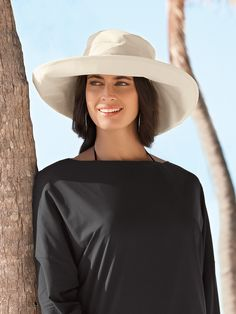 Ultra-Wide Rolled Brim Hat - Solumbra: All Day 100+ SPF Sun Protective Clothing - Style# 46560