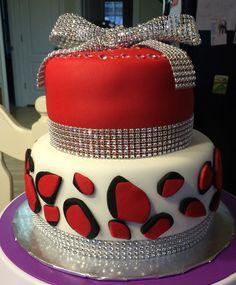 Cheetah Blingtastic Cake