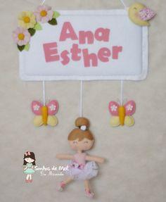 Sonhos de Mel 'ੴ - Crafts em feltro e tecido: °°Enfeites de porta para meninas...