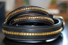 Handmade Strong leather dog collar made from high by LeatherAlley, £14.99