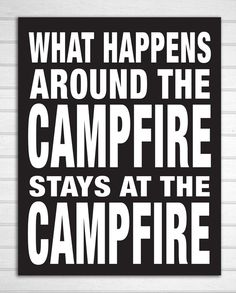 Rustic Cabin Campfire Wood Sign by ZietlowsCustomSigns on Etsy, $22.00