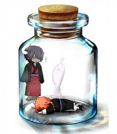 Tags: Anime, Pixiv Id 575060, Gin Tama, Kamui (Gin Tama), Takasugi Shinsuke, Bottle, Ghost