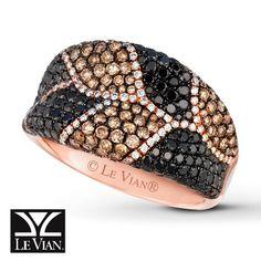 LeVian Ring 2 1/4 ct tw Diamonds 14K Strawberry Gold