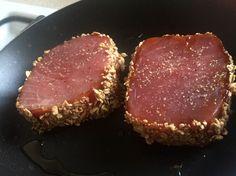 Atún sellado con granola | FoodieCasera