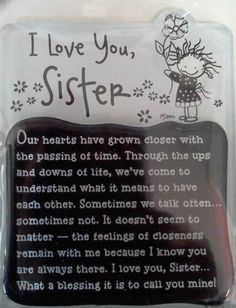 love my sister ~ love my sister _ love my sister quotes _ love my sister funny _ love my sister sibling _ love my sister thankful for _ love my sister inspiration _ love my sister heart _ love my sister hindi Little Sister Quotes, Love My Sister, Sister Friend Quotes, Best Sister, Daughter Quotes, Father Daughter, Sister Quotes And Sayings, Beautiful Sister Quotes, Quotes About Sisters