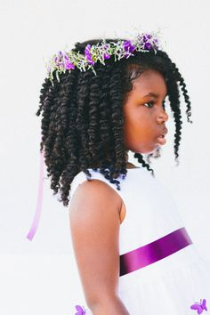 Pretty flower girl style ¤ twist out ♥