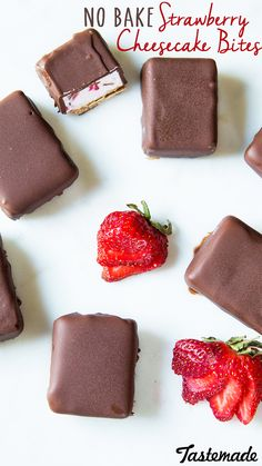 No-Bake Strawberry Cheesecake Bites