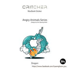 macbook sticker Dragon angry animals