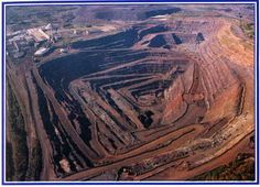 The Empire Mine, in Michigan's upper peninsula, produces iron ore. My grandfather worked here, in Palmer, MI. I remember when it was all forest land.