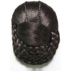 Black Wedding Bridal Clips Braids Updo Chignon Bun (€14) ❤ liked on Polyvore featuring beauty products, haircare, hair styling tools, hair, hairstyles, hair styles and black
