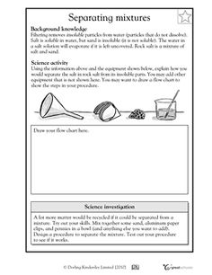 Printables Mixtures Worksheet collection of separating mixtures worksheet bloggakuten mixture bloggakuten