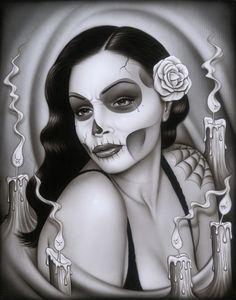 Dia De Los Muertos Art.