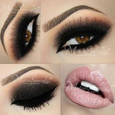 .@makeupbymels | Smokey Eye - #anastasiabeverlyhills #anastasiabrows... ❤ liked on Polyvore featuring beauty products, makeup, eyes, lips, eye makeup and beauty