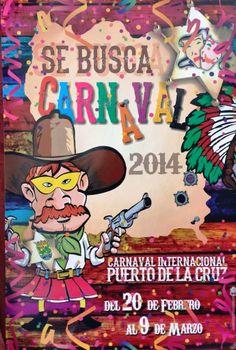 Cartel del Carnaval de Puerto de La Cruz en Carnavales de Canarias 2014: fechas, carteles y programas   Canarias Free Carnavales de Canarias 2014: fechas, carteles y programas   Canarias Free