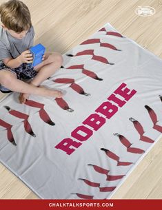 """Whether you are a baseball player, parent, or fan you are sure to love this super-soft plush premium blanket, which makes for a great gift for any occasion. This thick 60"""" x 40"""" premium blanket is densely woven, luxuriously soft, and durable. Curl up after a long day and rest with this thick, versatile blanket - It's perfect for those chilly or cozy nights on the couch. Baseball Room Decor, Gifts For Baseball Players, Personalised Frames, Room Signs, Great Gifts, Plush, Rest, Parenting, Kids Rugs"""