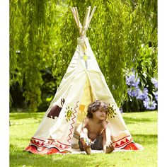 Childrens Garden Indian Tipi Play Tent & Den (1.9m H)