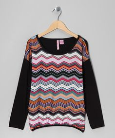 Take a look at this Fuchsia Zigzag Top - Girls by Apollo on #zulily today!