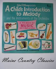 """1975 Children""""s LP Introduction to Melody Walt Disney Record Album   This was my favorite record"""