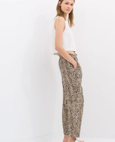 PRINTED LOOSE TROUSERS