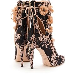 Designer Clothes, Shoes & Bags for Women Cute Shoes, Me Too Shoes, Floral Boots, Lace Heels, Bling Shoes, Shoe Boots, Shoes Sandals, Mode Outfits, Casual