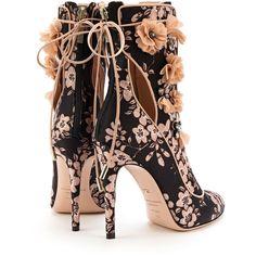 Designer Clothes, Shoes & Bags for Women Unique Shoes, Cute Shoes, Me Too Shoes, Shoe Boots, Shoes Sandals, Floral Boots, Lace Heels, Bling Shoes, Mode Outfits
