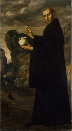 Saint Benedict Francisco de Zurbarán (Spanish, Fuente de Cantos 1598–1664 Madrid) Date: ca. 1640–45 Medium: Oil on canvas