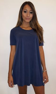 Peach Skin Tunic - Vint. Blue