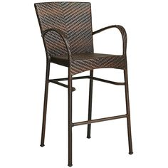 Barstool (Pier One) La Cena Barstool - Mocha Round Back Dining Chairs, Wicker Dining Chairs, Outdoor Dining Furniture, Outdoor Chairs, Outdoor Decor, Outdoor Spaces, Outdoor Living, Outdoor Life, Rattan
