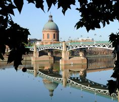 Dome de la Grave. Toulouse's favourite postcard picture and emblematic edifice on the banks of the Garonne.