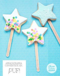 These sugar cookie fairy wands at Ahora También Mamá are perfect favors for a fairy birthday party.