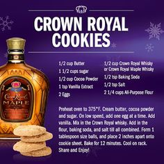 Crown Royal Maple Cookies