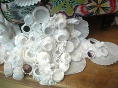 Coral reef made out of cupcake tins, paper cups, and coffee filters.....Anthropologie