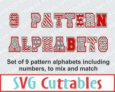 Pattern Alphabet SVG, DXF, EPS, Bundle of 9 patterned alphabets, Vector, Digital Cut File by SVGCUTTABLES on Etsy