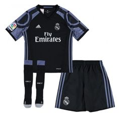 topjersey provides cheap and quality Real Madrid Away Black Kids/Youth Soccer Uniform With Socks with the information of price, image, size, style and others, easy for you to buy! Real Madrid 3rd Kit, Real Madrid Shop, Chitenge Outfits, Soccer Uniforms, Soccer Jerseys, Sport Online, Youth Soccer, Cheap Online Shopping, Black Kids