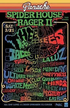 3/21 Panache SXSW Rager II @ Spider House w/ Thee Oh Sees, Jacco Gardner, La Luz, White Mystery, Hinds, Las Rosas