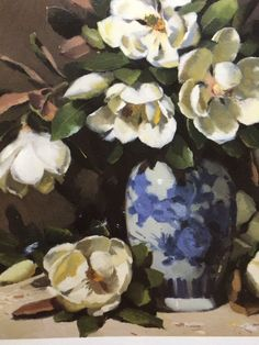 """""""Classic White"""" detail of oil painting by Patricia Moran"""